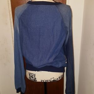 Daya by zendaya Tops - Daya By Zendaya Denim Sweatshirt top nwt